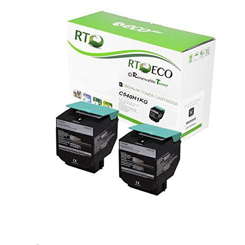 RT Compatible Lexmark C540H1KG Toner Cartridge (Black, 2-Pack)