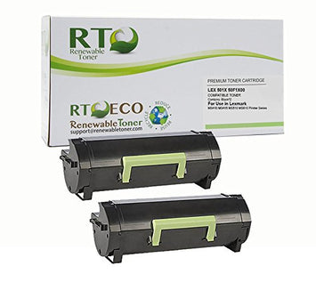 RT Compatible Lexmark 501X 50F1X00 Toner Cartridge (2-Pack) High Yield