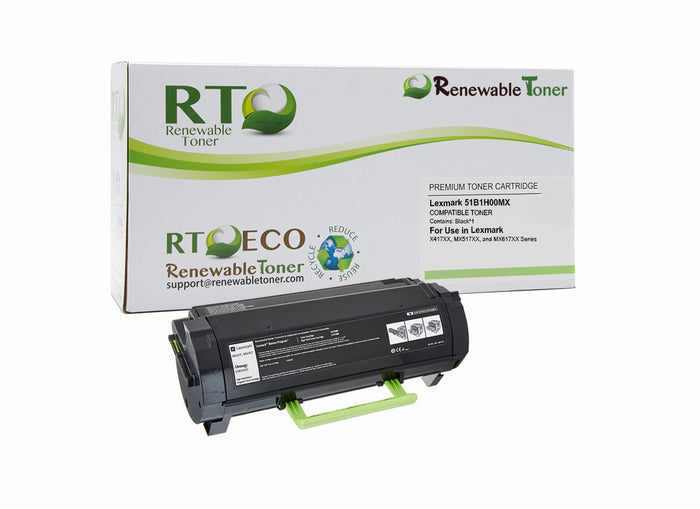 RT Compatible Lexmark 51B1H00MX Toner Cartridge (Black)