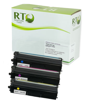 RT Compatible Toner Cartridge Replacement for Brother TN433 TN-433 High Yield (CMY, 3-Pack)