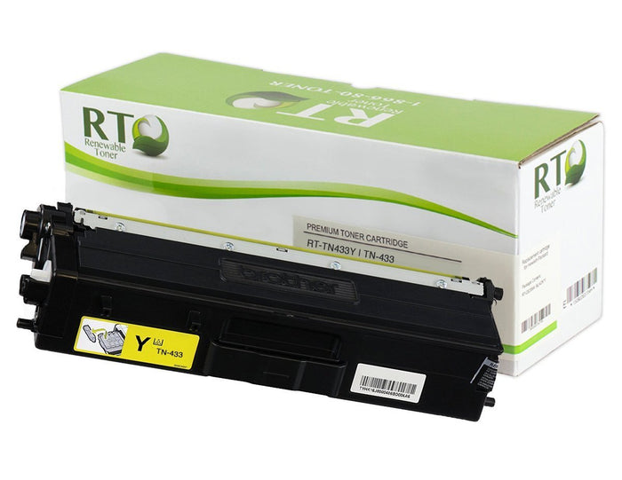 RT Compatible Toner Cartridge Replacement for Brother TN-433 TN-433Y High Yield (Yellow)