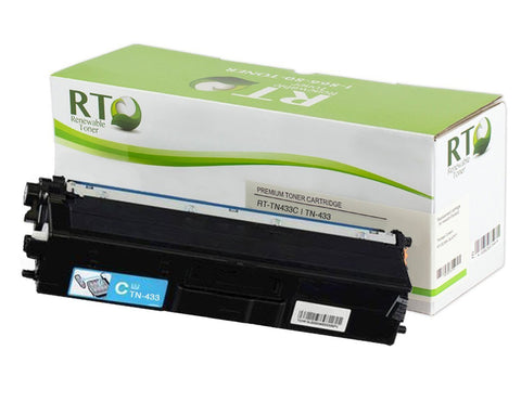 RT Compatible TN-433C Toner Cartridge (Cyan) High Yield