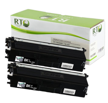 RT Compatible Toner Cartridge Replacement for Brother TN433 TN-433 High Yield (Black, 2-Pack)