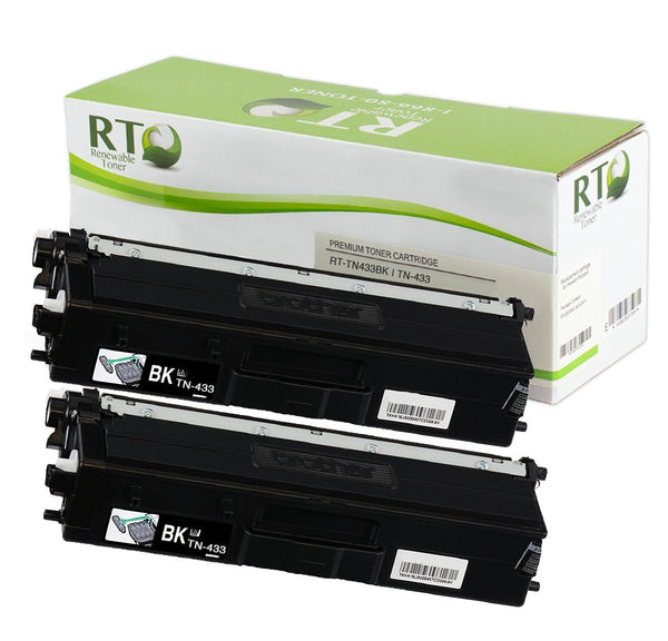 RT Compatible Brother TN-433 Toner Cartridge, High Yield (2-pack)