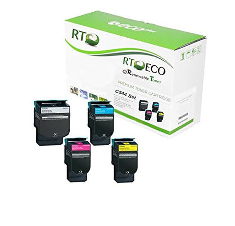 RT Compatible Lexmark C544 Toner Set (CMYK, 4-pack)
