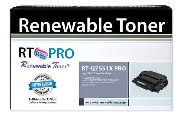 RT PRO 51X | Q7551X Toner Cartridge, High Yield