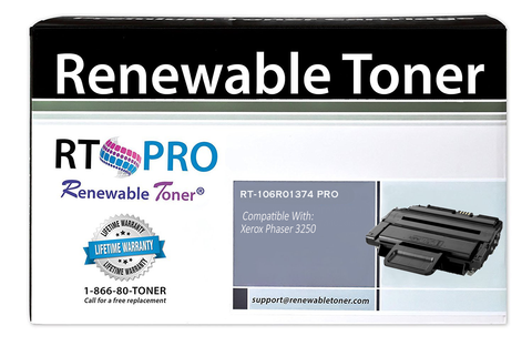 Renewable Toner PRO Compatible Toner Cartridge Replacement for Xerox 106R1374 106R01374 Phaser 3250 3250D 3250DN Laser Printers
