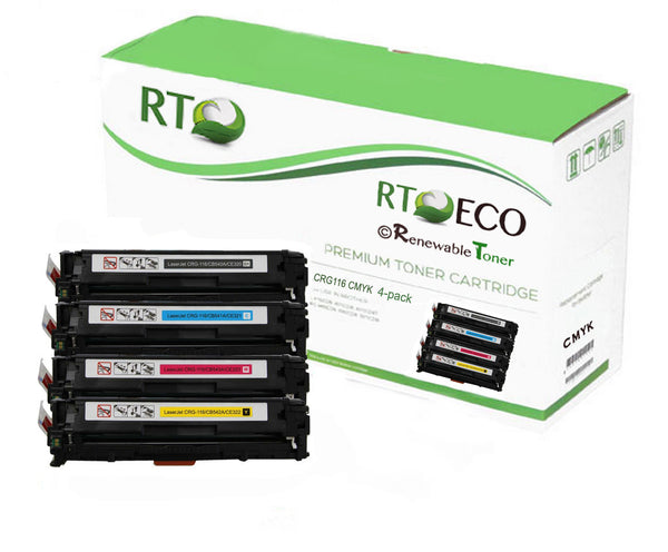 RT Compatible Canon CRG-116 Toner Set (CMYK, 4-pack)