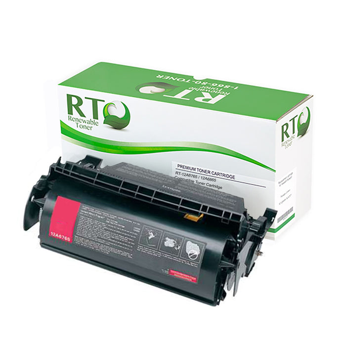 RT Compatible Lexmark 12A6765 12A6865 Toner Cartridge
