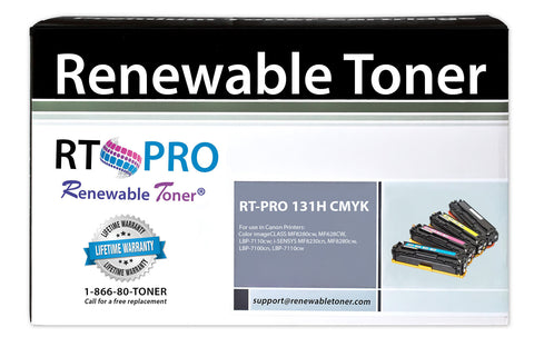 RT PRO 131H Color Toner Set (CMYK, 4-pack)