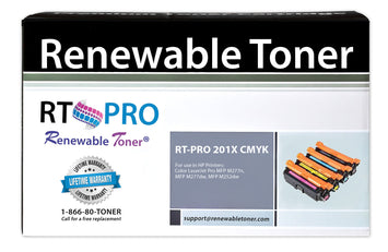 RT PRO Compatible HP 201X Color Toner Set (CMYK, 4-pack) High Yield