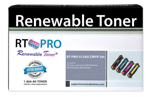 RT PRO 312A | 312X Compatible Toner Set (CMYK, 4-pack) High Yield