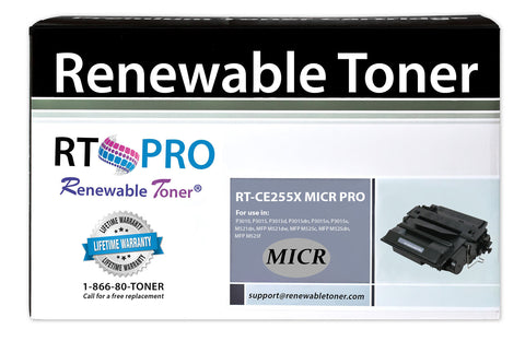 RT PRO 55X | CE255X Compatible MICR Toner Cartridge, High Yield