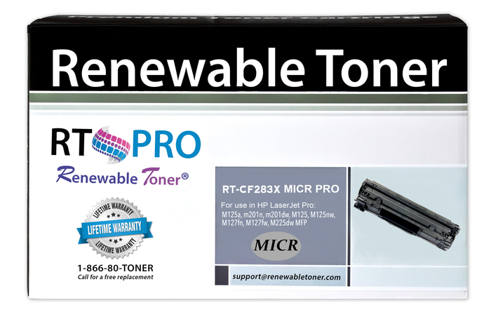 RT PRO 83X | CF283X Compatible MICR Toner Cartridge, High Yield