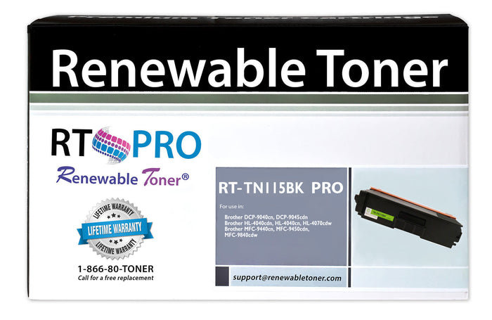RT PRO Compatible Brother TN-115BK Toner Cartridge, High Yield
