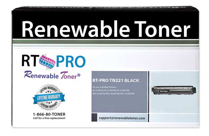 RT PRO Compatible Toner Cartridge Replacement for Brother TN-221 TN-221BK (Black)