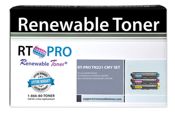 RT PRO Compatible Toner Cartridge Replacement for Brother TN-221 Color Set (CMY, 3-pack)