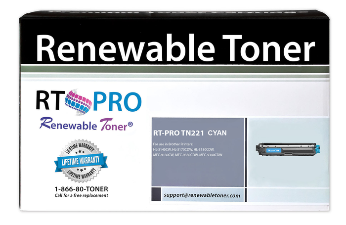 RT PRO Compatible Toner Cartridge Replacement for Brother TN221 TN-221C (Cyan)