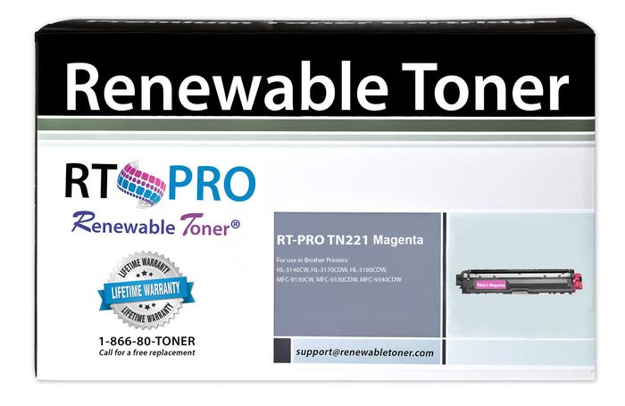 RT PRO Compatible Toner Cartridge Replacement for Brother TN221 TN-221M (Magenta)