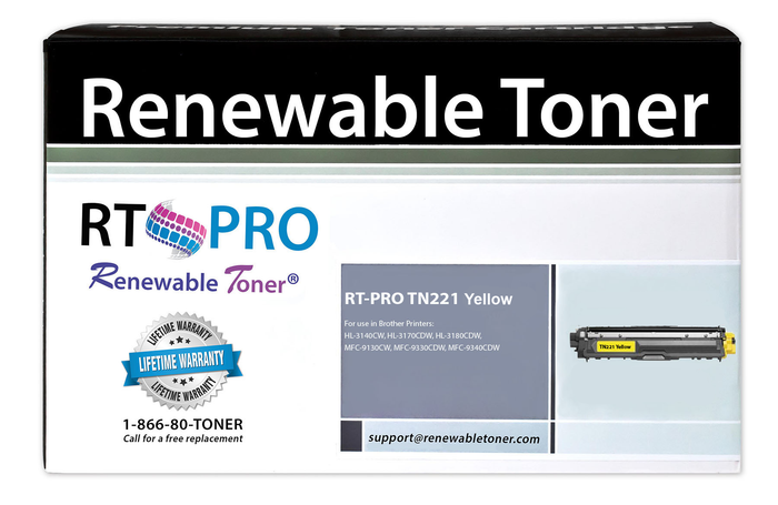 RT PRO Compatible Toner Cartridge Replacement for Brother TN221 TN-221Y (Yellow)