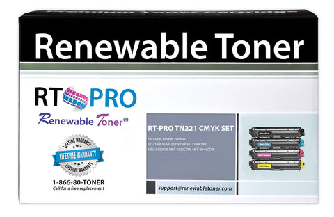 RT PRO TN-221 | TN-225 Compatible Toner Set (CMYK, 4-pack)
