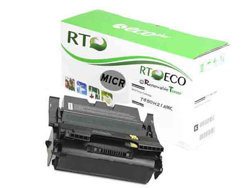 RT Compatible Lexmark T650H11A T650H21A MICR Cartridge, High Yield