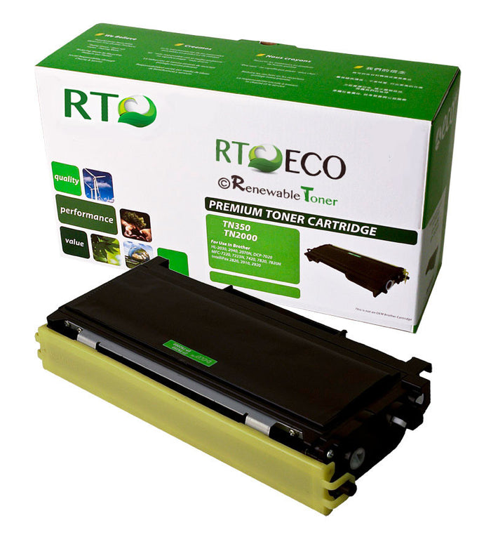RT Compatible Toner Cartridge Replacement for Brother TN350 TN-350 (Black)