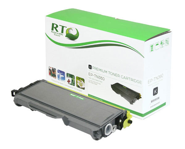 RT Compatible Toner Cartridge Replacement for Brother TN360 TN-360 (Black)