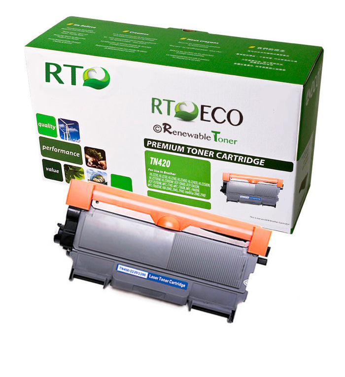 RT Compatible Toner Cartridge Replacement for Brother TN420 TN-420 (Black)