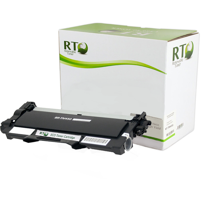 RT Compatible Brother TN-450 Toner Cartridge, High Yield