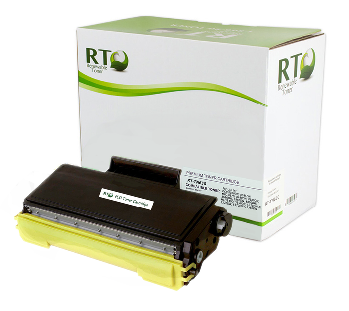 RT Compatible Toner Cartridge Replacement for Brother TN650 TN-650 High Yield (Black)