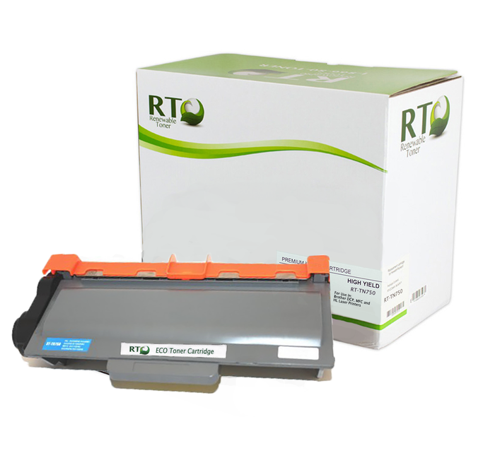 RT Compatible Brother TN-750 Toner Cartridge, High Yield