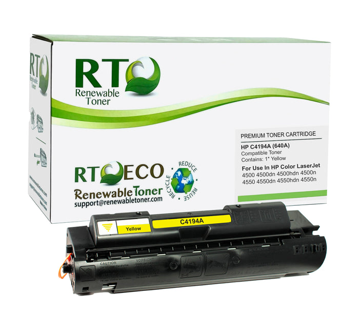 RT Compatible HP C4194A 640A Toner Cartridge (Yellow)
