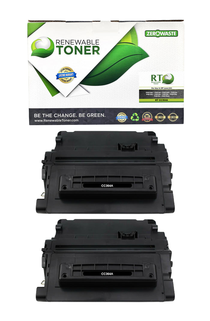 RT Compatible HP 64A CC364A Toner Cartridge (2-Pack)