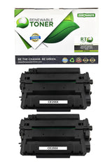 RT Compatible HP 55X CE255X Toner Cartridge, High Yield (2-pack)