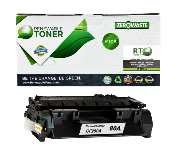 RT 80A CF280A Compatible MICR Toner Cartridge