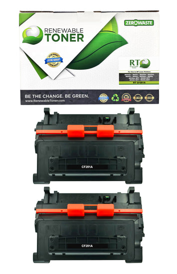 RT Compatible HP 81A CF281A Toner Cartridge (2-Pack)