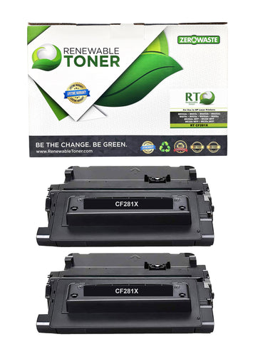 RT Compatible HP 81X CF281X Toner Cartridge, High Yield (2-Pack)