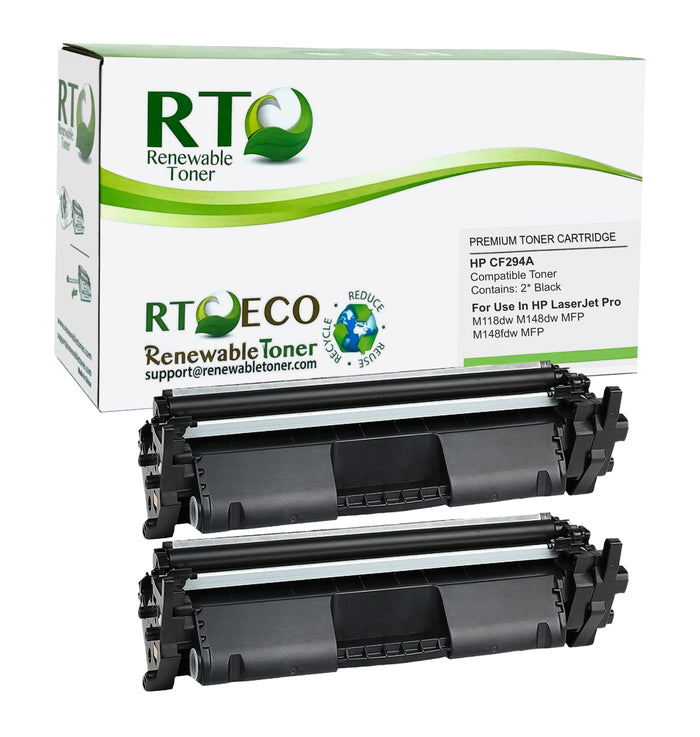 RT Compatible HP 94A CF294A Toner Cartridge (2-Pack)