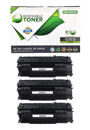 RT Compatible HP 49A Q5949A Toner Cartridge (3-pack)