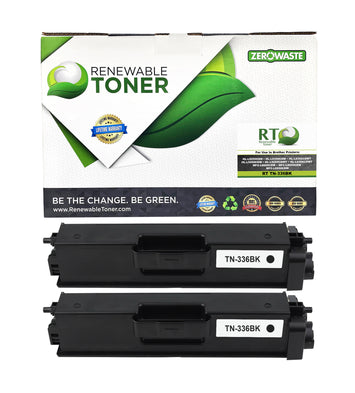 RT Compatible Toner Cartridge Replacement for Brother TN-336 TN-336BK High Yield (Black, 2-Pack)