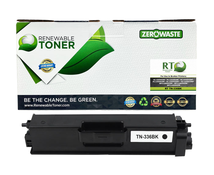 RT Compatible Toner Cartridge Replacement for Brother TN-336 TN-336BK (Black)