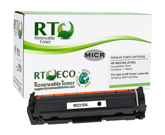 RT Compatible HP W2310A 215A MICR Toner Cartridge (No Chip)