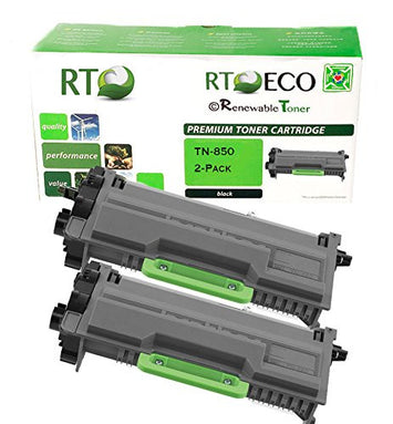 RT Compatible Toner Cartridge Replacement for Brother TN850 TN-850 High Yield (Black, 2-pack)