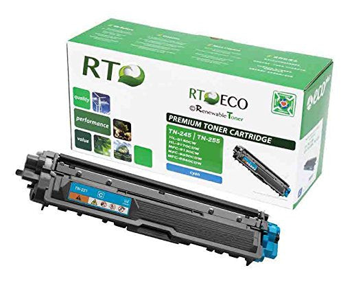 RT Compatible Toner Cartridge Replacement for Brother TN-245C TN-255C (Cyan)