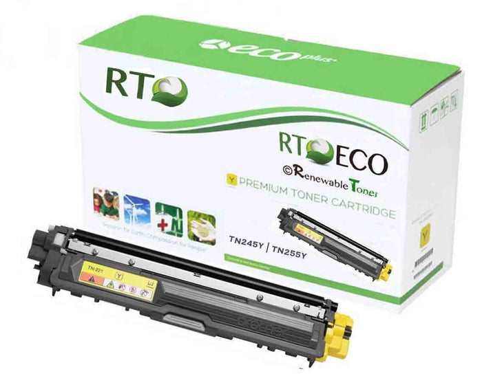 RT Compatible Toner Cartridge Replacement for Brother TN-245Y TN-255Y (Yellow)