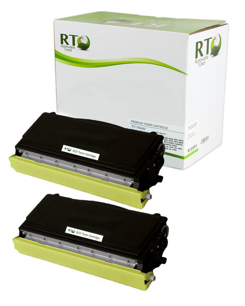 RT Compatible Brother TN-430 Toner Cartridge (Black, 2-Pack)