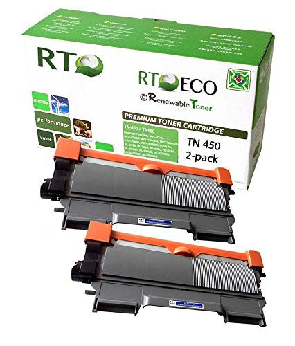 RT Compatible Toner Cartridge Replacement for Brother TN450 TN-450 (Black, 2-Pack)