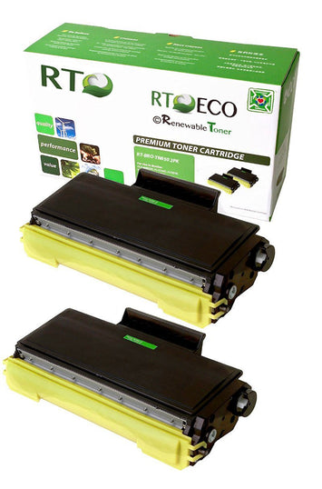 RT Compatible Toner Cartridge Replacement for Brother TN650 TN-650 (Black, 2-Pack)
