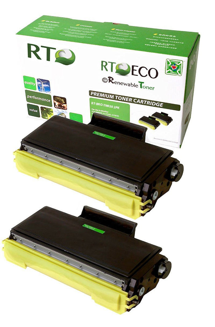 RT Compatible Brother TN-650 Toner Cartridge (2-pack)